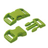 click buckle light green, 20mm, 1 pc.