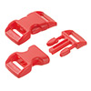 click buckle red, 14mm, 1 pc.