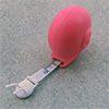 "measuring tape ""snail"" pink, 1m"