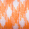 Paracord 550 mixed colours orange-white, 2x4mm, 4m