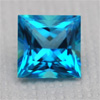 Swarovski GEMS – 5x5mm Topaz paraiba, Square Princess, 1 pc