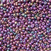 "Glass beads ""shade in shade - violet/emerald/oliv"" - 4mm - 100g"