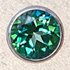 Swarovski PRESETTING Silver 925, Topaz rainforest 3,0mm, 1 pc.